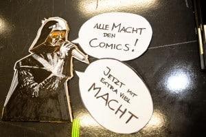 Alle Macht den Comics - Darth Vader. Zeichnung (c) Albert Mitringer, Foto (c) Joanna Pianka