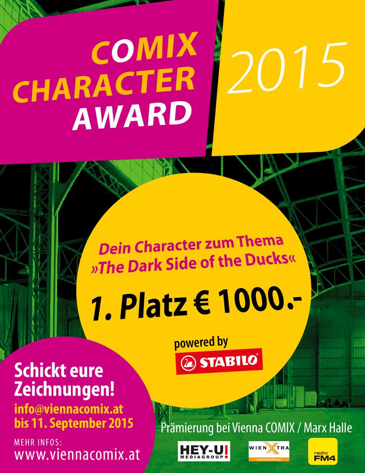 COMIX Character Award 2015 Webflyer