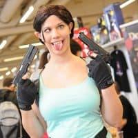 Lara Croft Cosplayerin, Foto (c) Joanna Pianka