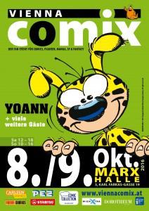 Flyer Vienna COMIX 8. und 9. Oktober 2016