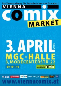 Flyer Vienna COMIX MARKET 3. April 2016