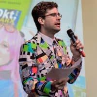 Edi Edhutschek auf der COMIX Show Stage. Foto Joanna Pianka