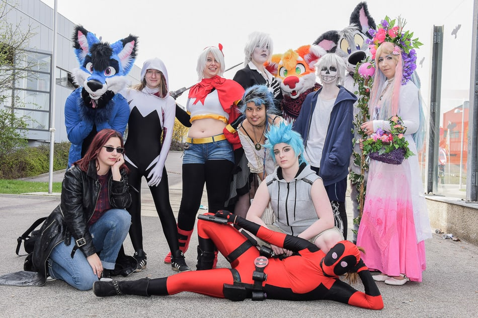 Cosplay Gruppe auf der Vienna COMIX. Foto Joanna Pianka
