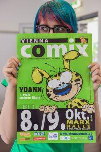 Mitarbeiterin Vienna COMIX. Foto Joanna Pianka