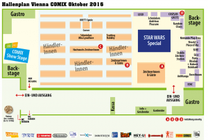 Vienna COMIX 2016 Hallenplan Marx Halle