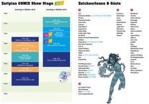 Vienna COMIX 2016 Zeitplan und Gäste