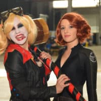 Harley Quinn und Black Widow. Foto Karolina Doda