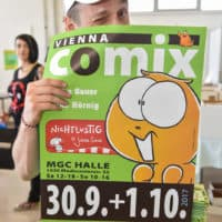 Vienna COMIX Plakat 30.9.-1.10. 2017. Foto Joanna Pianka