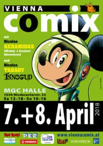 Vienna COMIX April 2018 Plakat