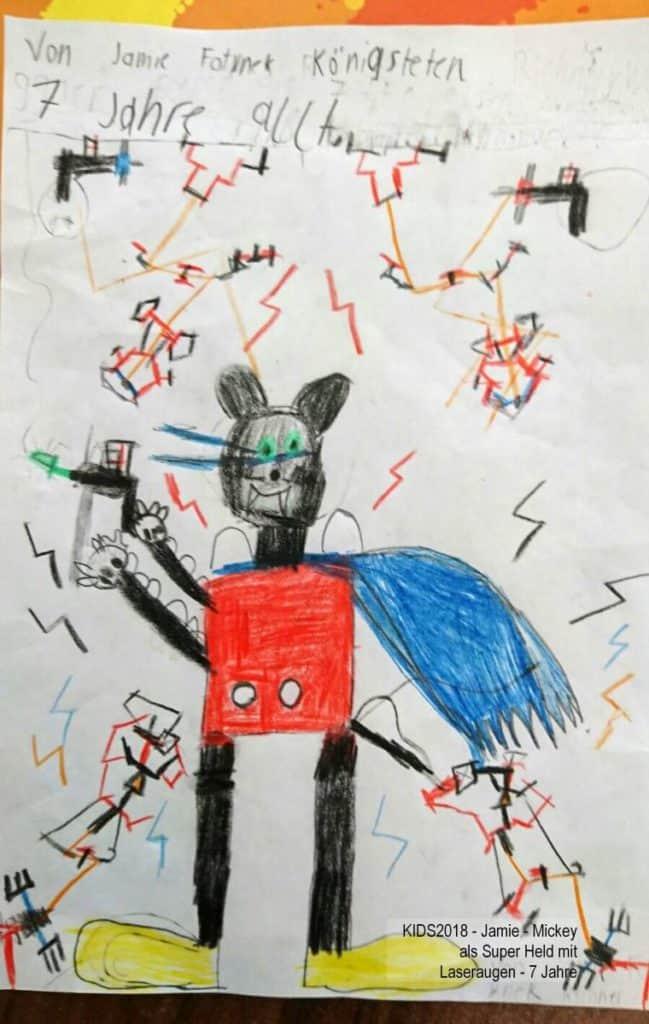 KIDS2018 - Jamie - Mickey als Super Held mit Laseraugen - 7 Jahre