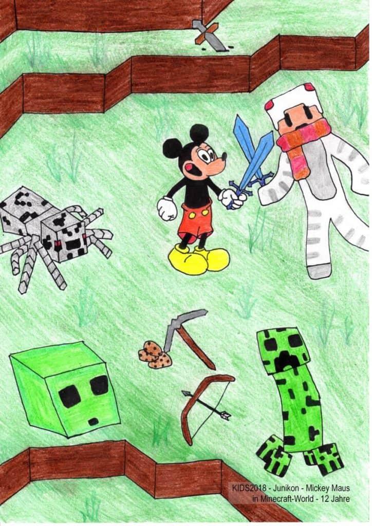 KIDS2018 - Junikon - Mickey Maus in Minecraft-World - 12 Jahre