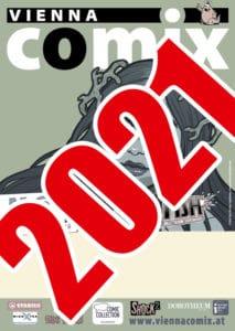 Vienna COMIX 2021 vorübergehender Flyer
