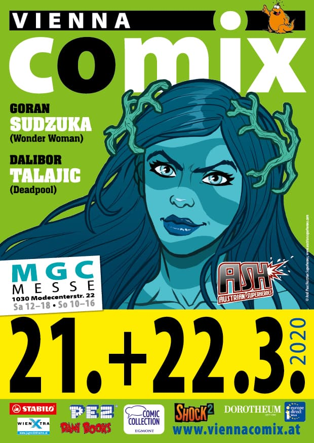 Flyer der Vienna COMIX März 2020